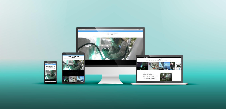 Création d'un site internet pour le soudeur Alu & inox Matthieu MARION